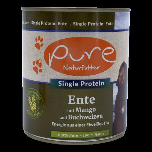 Hundemenü Single-Protein Ente mit Mango und Buchweizen - getreidefrei 800g