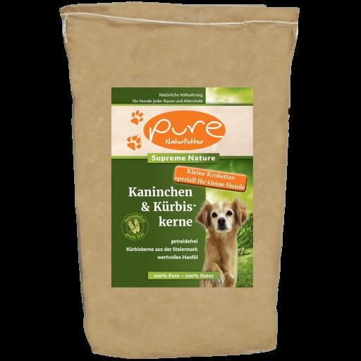 PURE Supreme Nature Kaninchen & Kürbiskerne FÜR KLEINE HUNDERASSEN 4kg - GETREIDEFREI