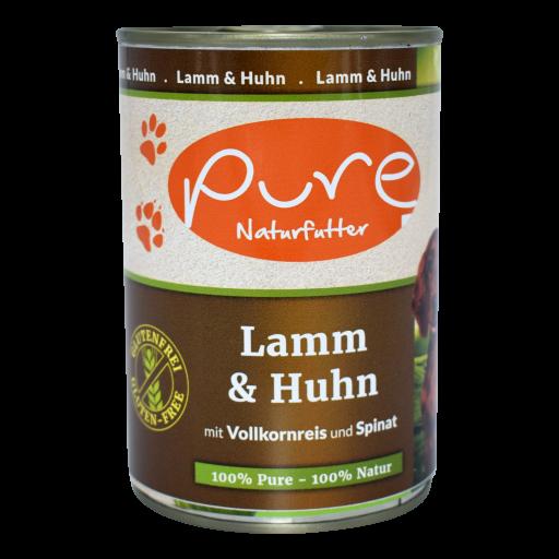 Hundemenü Classic Lamm & Huhn mit Vollkornreis und Spinat 400g