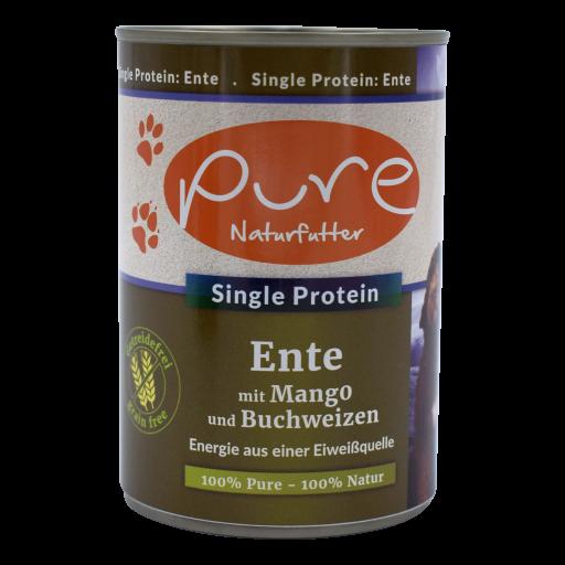 Hundemenü Single-Protein Ente mit Mango und Buchweizen - getreidefrei 400g