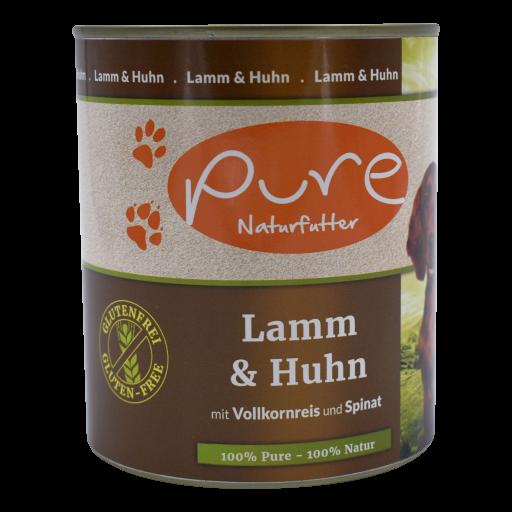 Hundemenü Classic Lamm & Huhn mit Vollkornreis und Spinat 800g