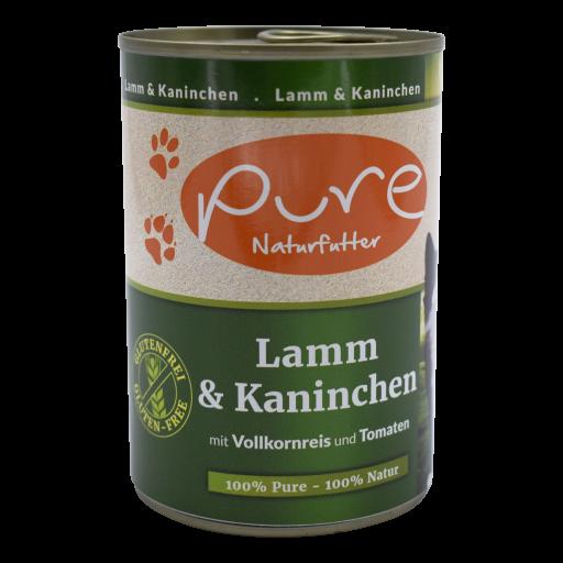Katzenmenü CLASSIC Lamm & Kaninchen mit Vollkornreis und Tomaten 400g