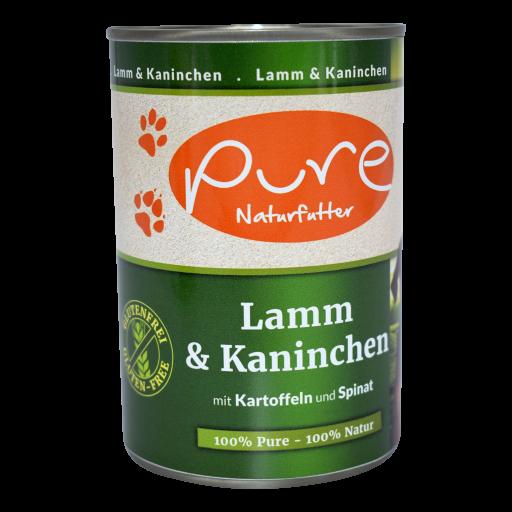 Hundemenü Classic Lamm & Kaninchen mit Kartoffeln und Spinat 400g