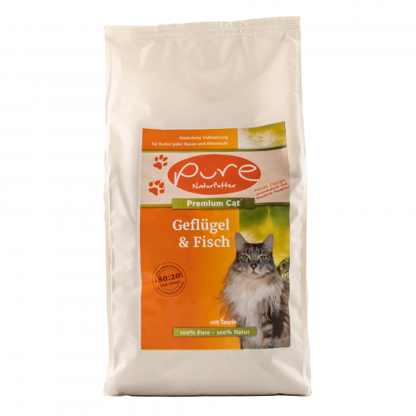 Premium Cat mit Geflügel & Fisch 2kg