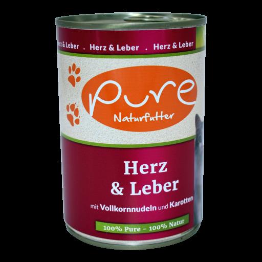 Katzenmenü CLASSIC Herz & Leber mit Vollkornnudeln und Karotten 400g