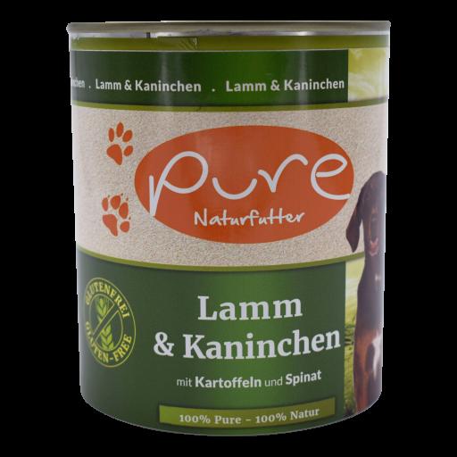 Hundemenü Classic Lamm & Kaninchen mit Kartoffeln und Spinat 800g