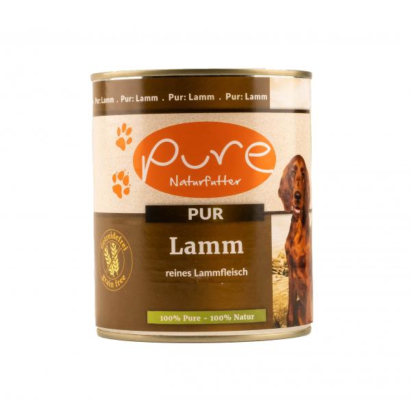 Hundemenü Lamm Pur 100% reines Lammfleisch 800g AUSLAUFARTIKEL MHD 5.11.2021