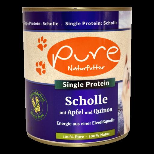 Hundemenü Single-Protein Scholle mit Apfel und Quinoa - getreidefrei 800g