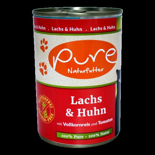Katzenmenü CLASSIC Lachs & Huhn mit Vollkornreis und Tomaten 400g